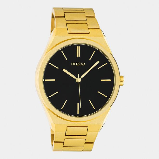 OOZOO Timepieces - unisex  - stainless steel armband goud  met goud  horlogekast