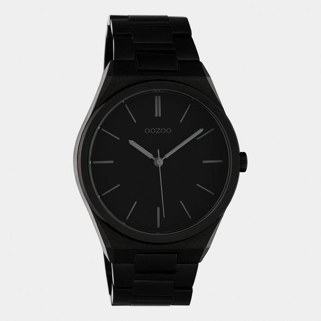 OOZOO Timepieces - unisex  - stainless steel armband zwart  / zwart