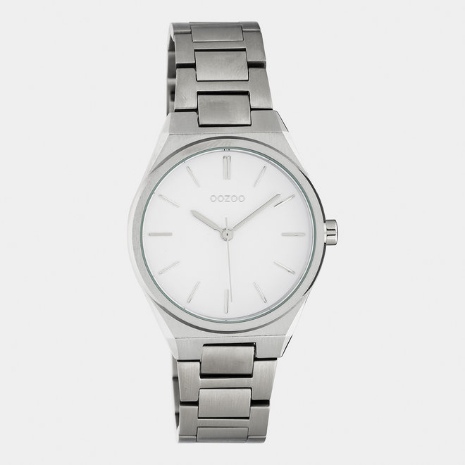 OOZOO Timepieces - unisex  - stainless steel bracelet silver  / silver