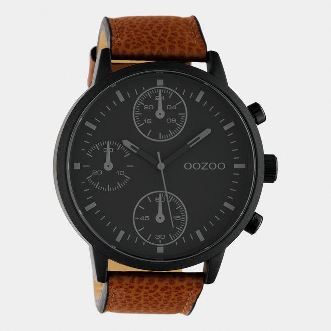 OOZOO Timepieces - hommes - bracelet en cuir marron / noir