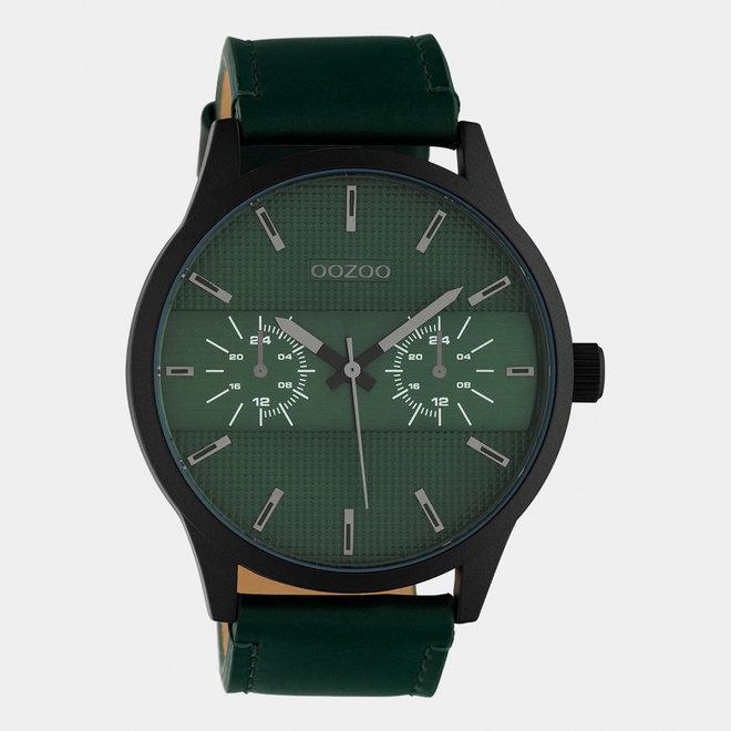OOZOO Timepieces - hommes - bracelet en cuir vert / noir
