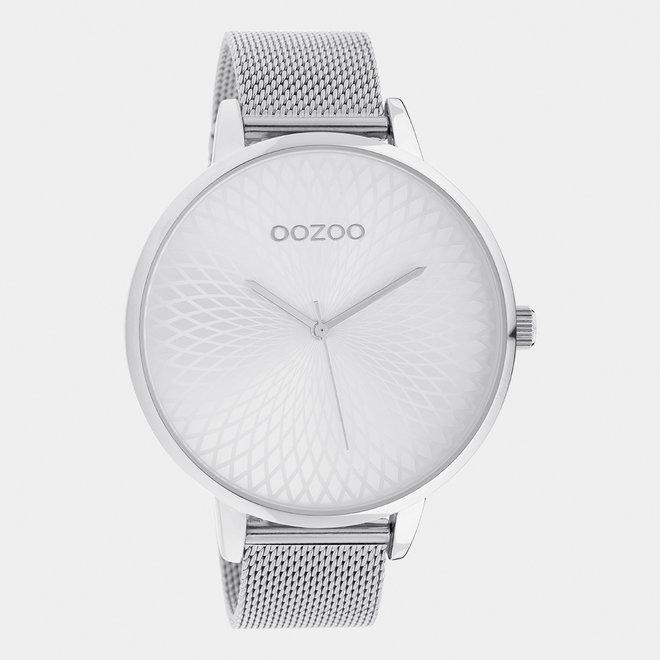 OOZOO Timepieces - dames  - mesh band zilver / zilver