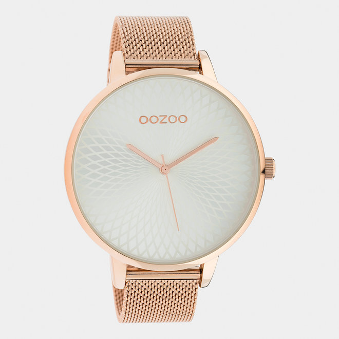 OOZOO Timepieces - ladies  - mesh strap rose gold  / rose gold