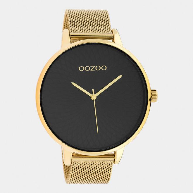 OOZOO Timepieces - dames  - mesh band goud / goud