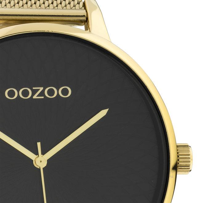 OOZOO Timepieces - dames  - mesh band goud met goud  horlogekast