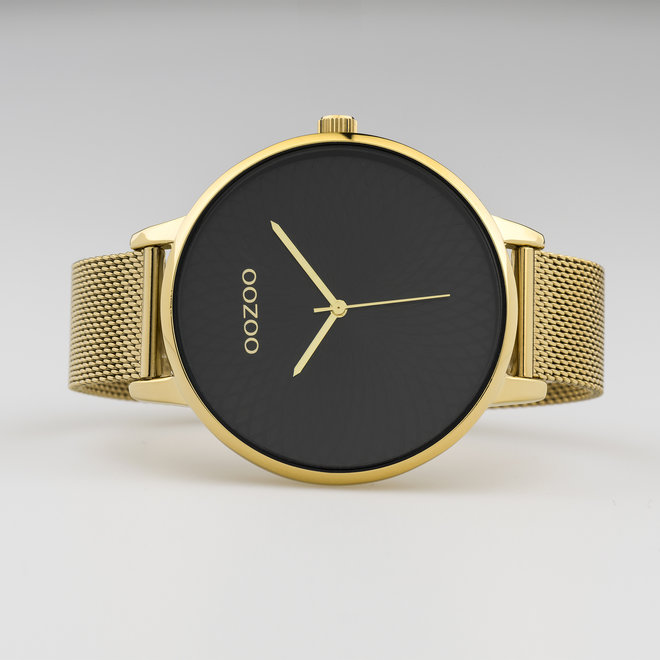 OOZOO Timepieces - ladies  - mesh strap gold with gold  watch case