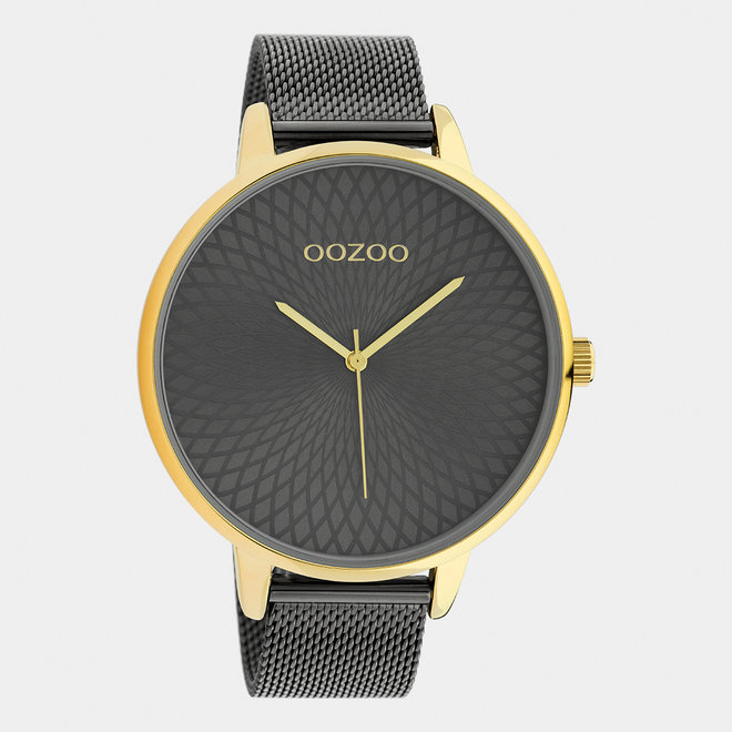 OOZOO Timepieces - femmes - bracelet en mesh titane / or