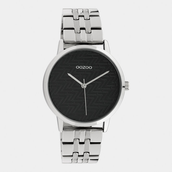 OOZOO Timepieces - dames  - stainless steel armband zilver / zilver