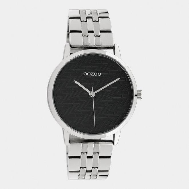 OOZOO Timepieces - femmes - bracelet en stainless steel argent met argent horlogekast