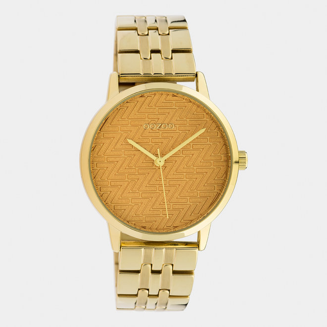OOZOO Timepieces - ladies  - stainless steel bracelet gold with gold  watch case