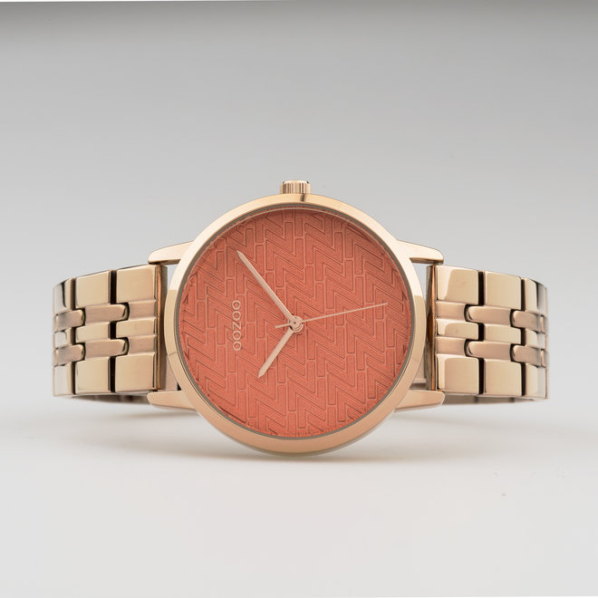 OOZOO Timepieces - ladies  - stainless steel bracelet rose gold  with rose gold  watch case