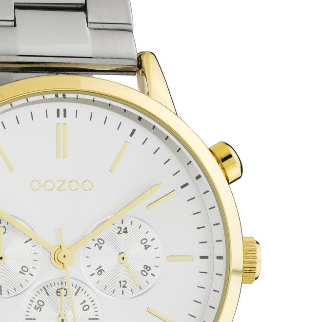OOZOO Timepieces - unisexe - bracelet en stainless steel argent met or horlogekast