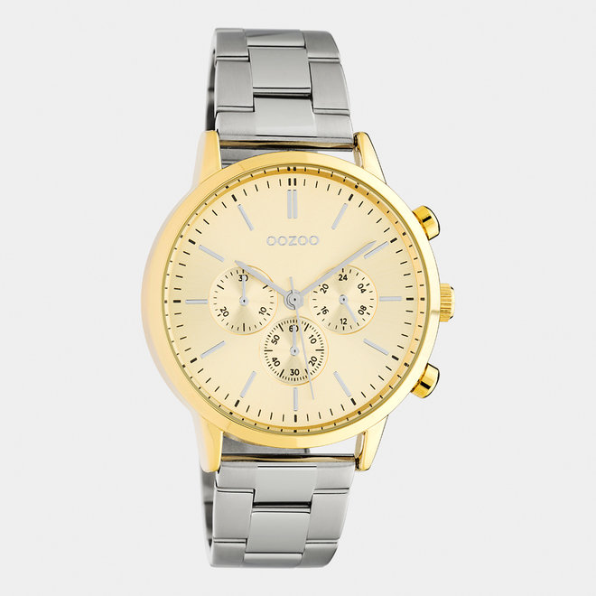 OOZOO Timepieces - unisex  - stainless steel bracelet silver / gold