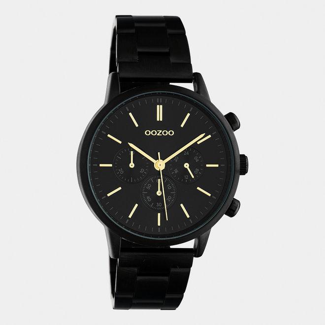 OOZOO Timepieces - unisex  - stainless steel bracelet black  / black