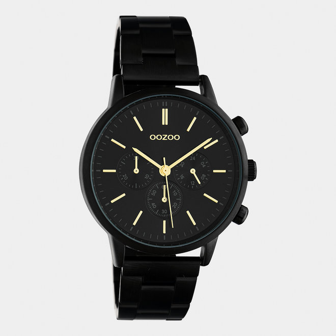 OOZOO Timepieces - unisexe - bracelet en stainless steel noir / noir