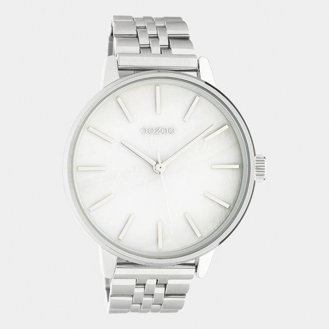 OOZOO Timepieces-unisexe-bracelet en acier inoxydable argent / argent