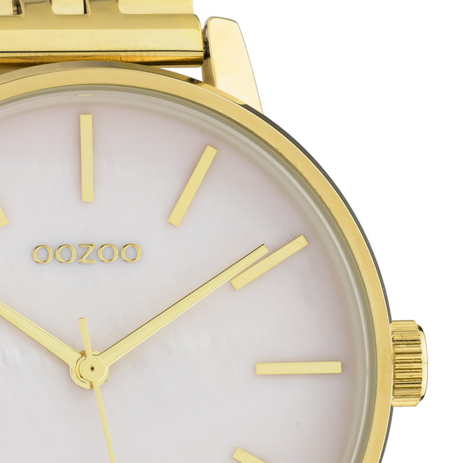 OOZOO Timepieces - unisexe - bracelet en acier inoxydable or avec boîtier de montre en or