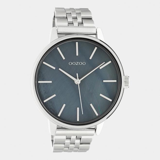 OOZOO Timepieces - unisexe  - bracelet en acier inoxydable argent / argent