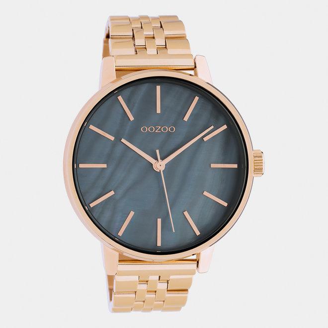 OOZOO Timepieces - unisex  - stainless steel armband rosé goud  / rosé goud