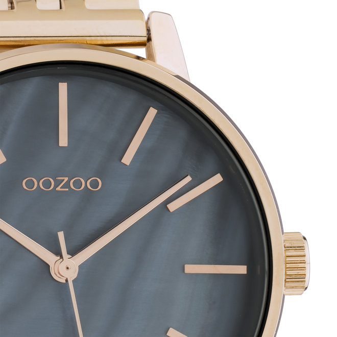 OOZOO Timepieces - unisex  - stainless steel bracelet rose gold  with rose gold  watch case