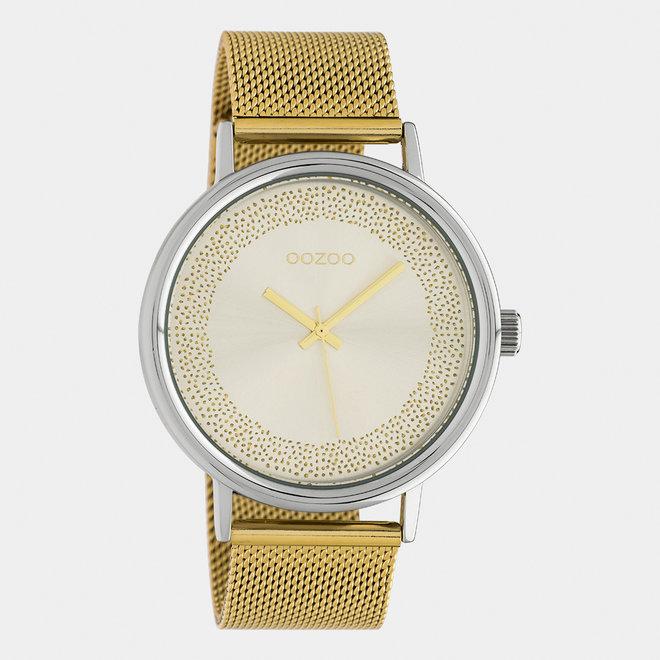 OOZOO Timepieces - femmes - bracelet en maille or / argent