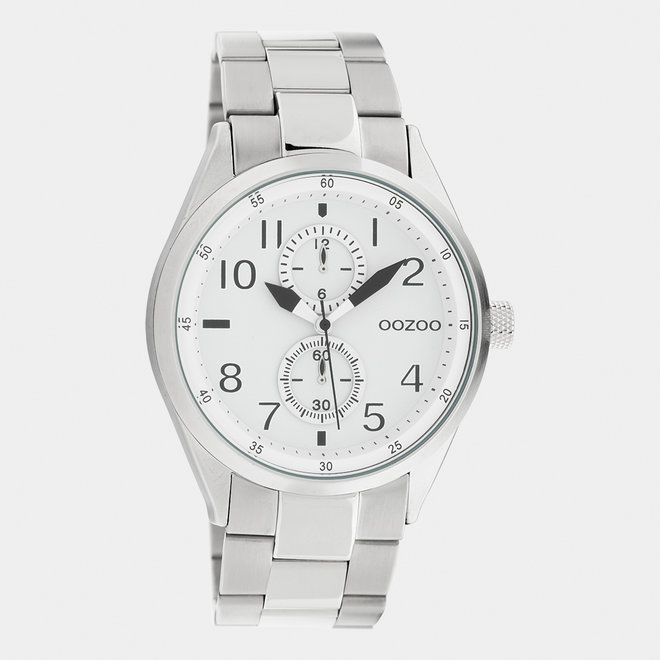 OOZOO Timepieces - unisex  - stainless steel armband zilver / zilver