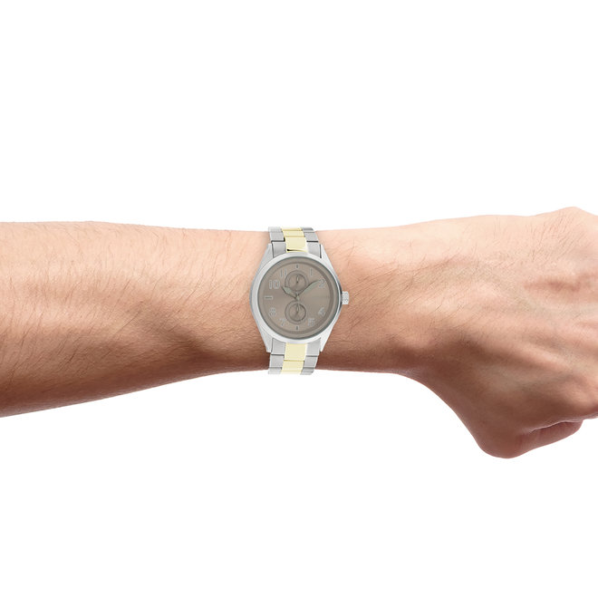 OOZOO Timepieces - unisex  - stainless steel bracelet silver-gold with silver watch case