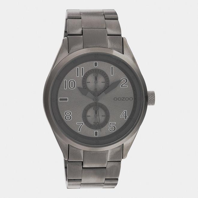 OOZOO Timepieces - unisexe - bracelet en stainless steel titane met titane horlogekast
