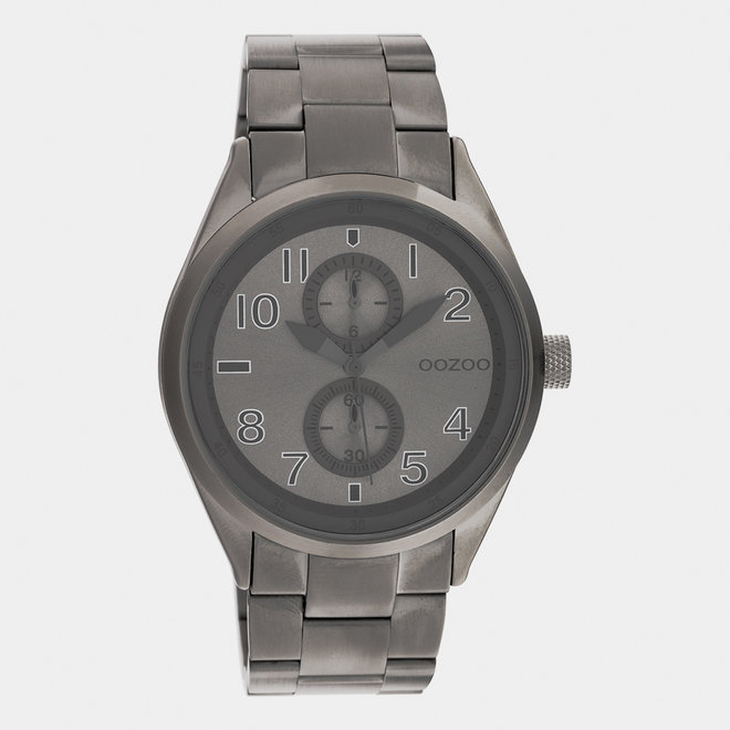 OOZOO Timepieces - unisex  - stainless steel armband titanium / titanium
