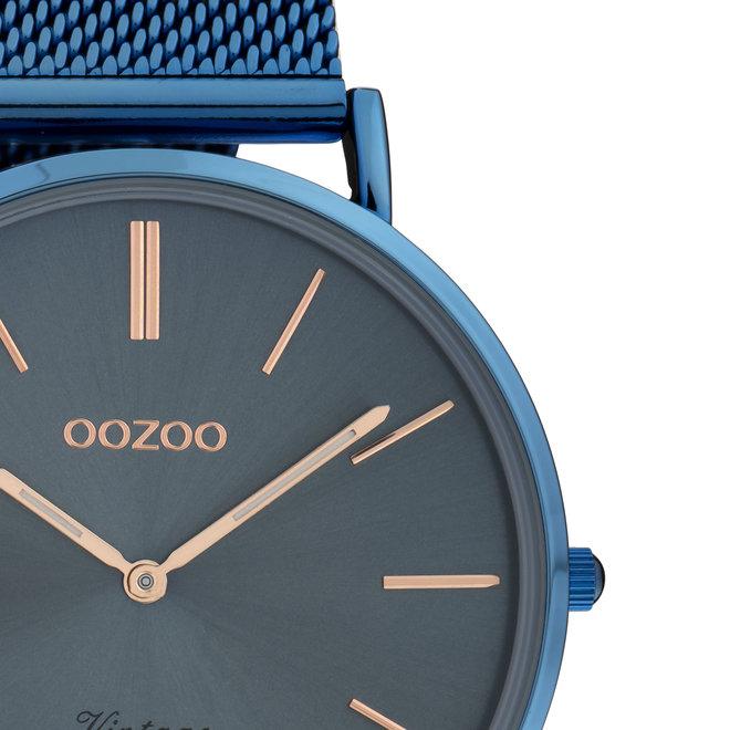 Vintage series - unisexe - bracelet en mesh bleu avec bleu