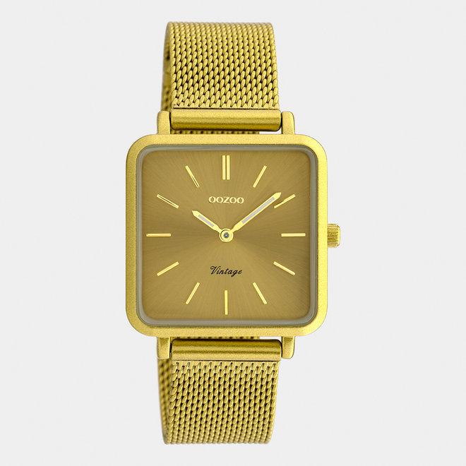 Vintage series - unisexe - bracelet en mesh jaune moutarde / jaune moutarde