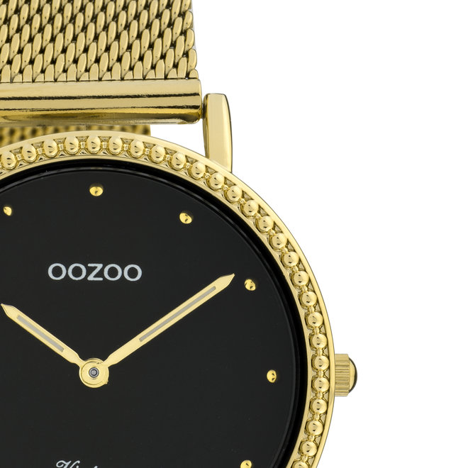 Vintage series - ladies - mesh strap gold with gold watch case