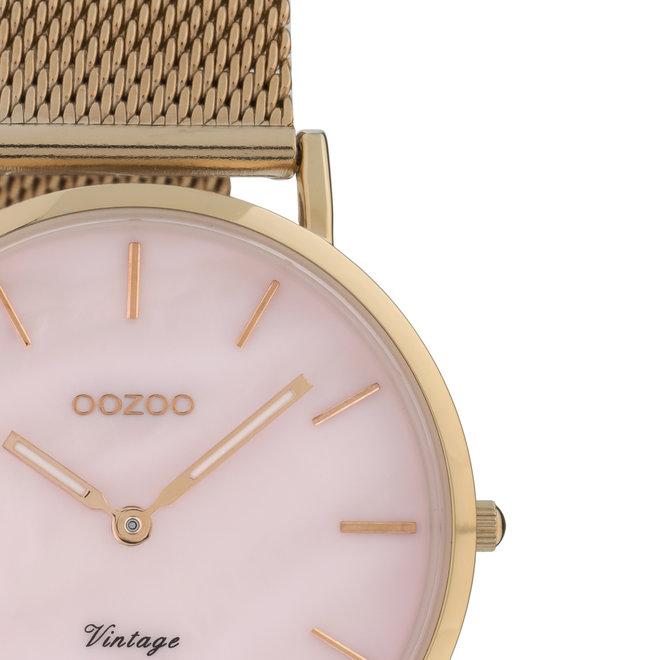 Vintage series - femmes - bracelet en mesh or rose avec or rose