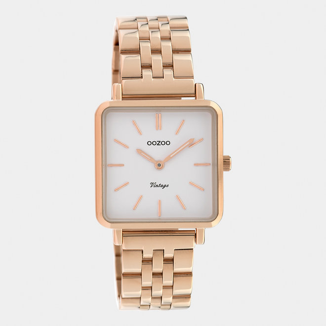 Vintage series - ladies - stainless steel bracelet rose gold  / rose gold