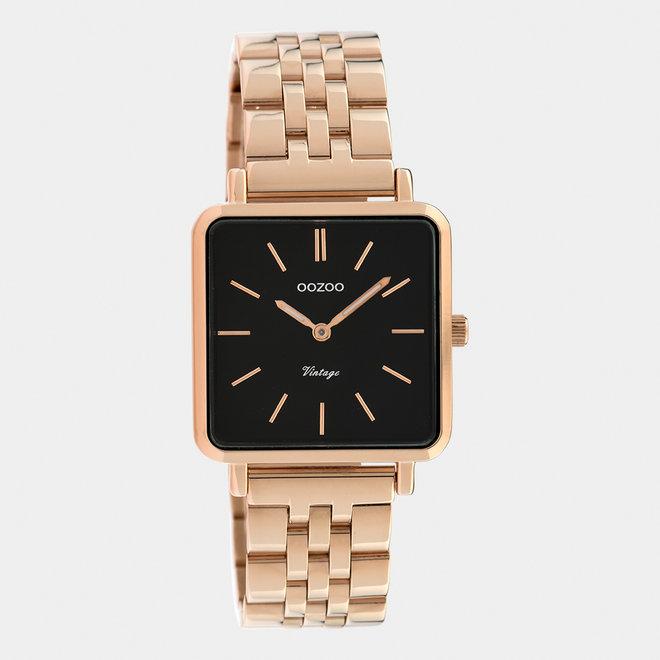Vintage series - dames - stainless steel armband rosé goud  / rosé goud