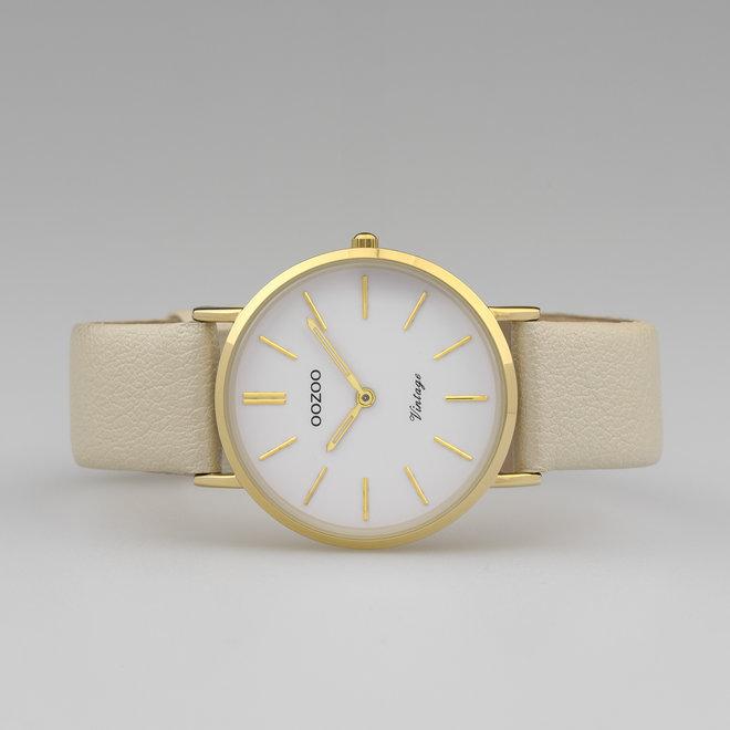 Vintage series - femmes - bracelet en cuir or avec or