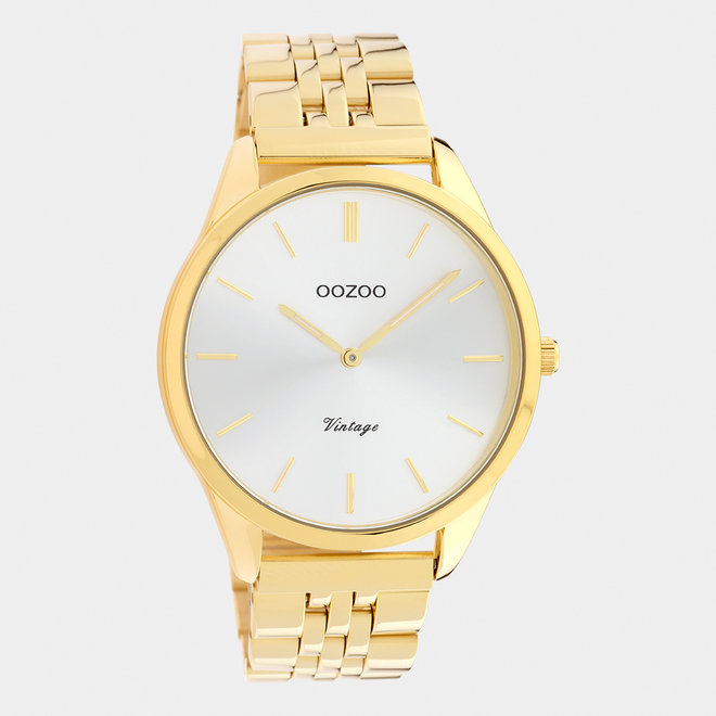 Vintage series - unisex - stainless steel bracelet gold with gold watch case