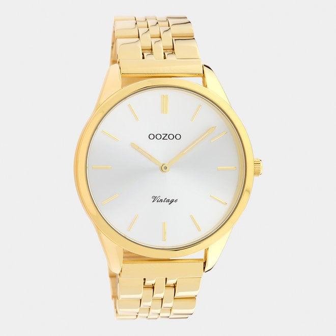 Vintage series - unisex - stainless steel armband goud met goud horlogekast