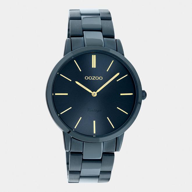 Next Generation - unisex  - stainless steel armband donker blauw  met donker blauw  horlogekast