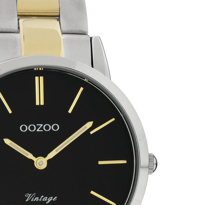 Next Generation - unisex  - stainless steel armband zilver/goud  met zilver/goud  horlogekast
