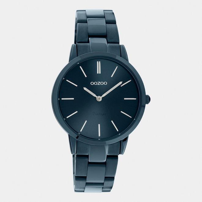 Next Generation - unisex  - stainless steel armband donker blauw  / donker blauw