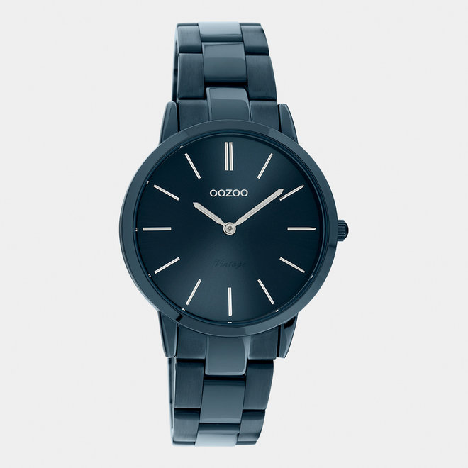 The Next Generation - unisex  - stainless steel bracelet dark blue  with dark blue  watch case