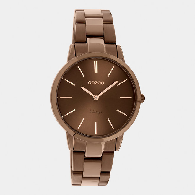 The Next Generation - unisex  - stainless steel bracelet brown  with brown  watch case