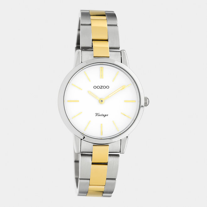 The Next Generation - unisex  - stainless steel bracelet silver/gold  with silver  watch case