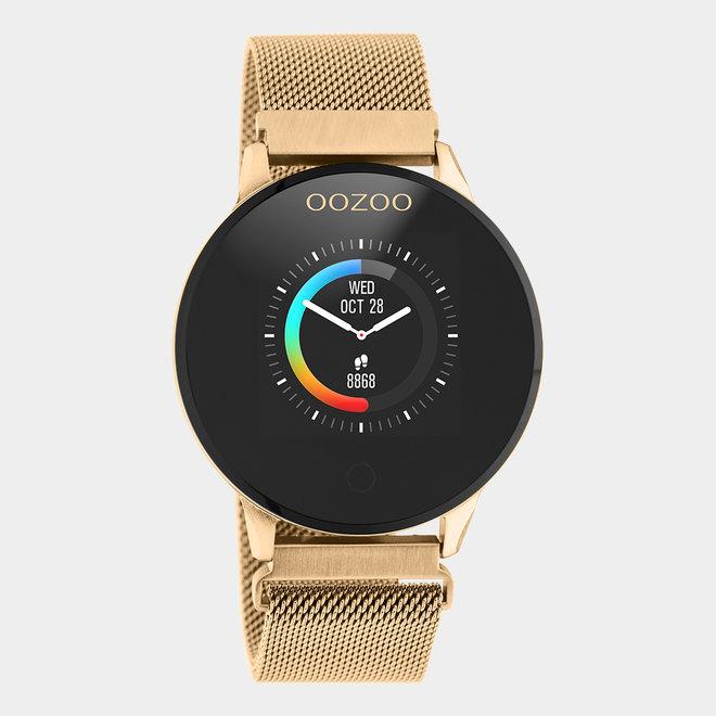OOZOO Smartwatches - unisex - metalen mesh band rosé gouden / rosé goud