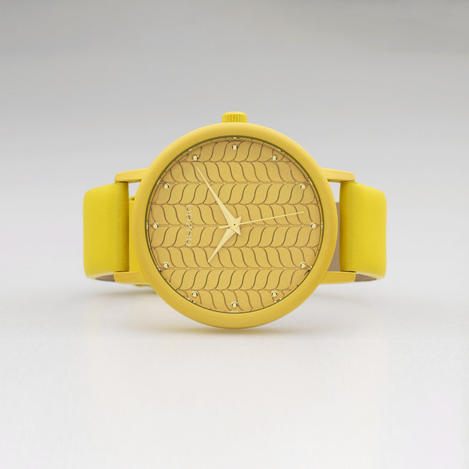 OOZOO Timepieces - ladies - mustard leather strap with mustard watch case