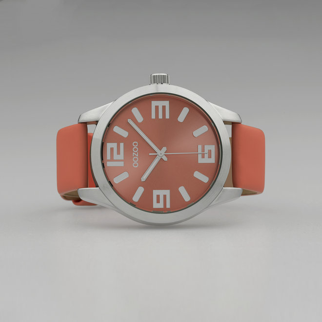 OOZOO Timepieces - unisex - desert flower leather strap with silver watch case