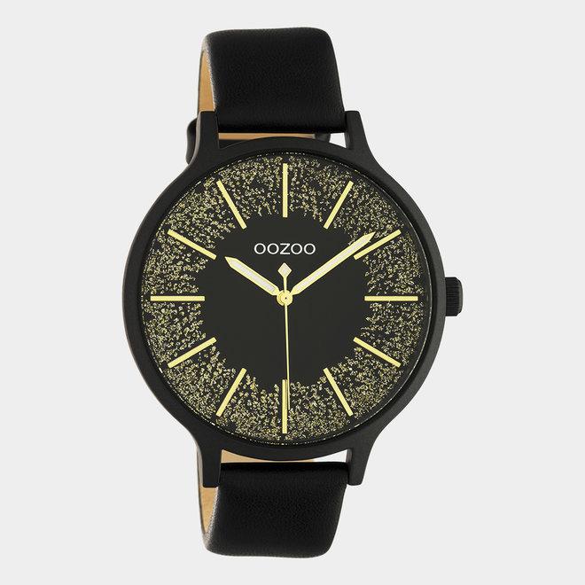 OOZOO Timepieces - ladies - leather strap black