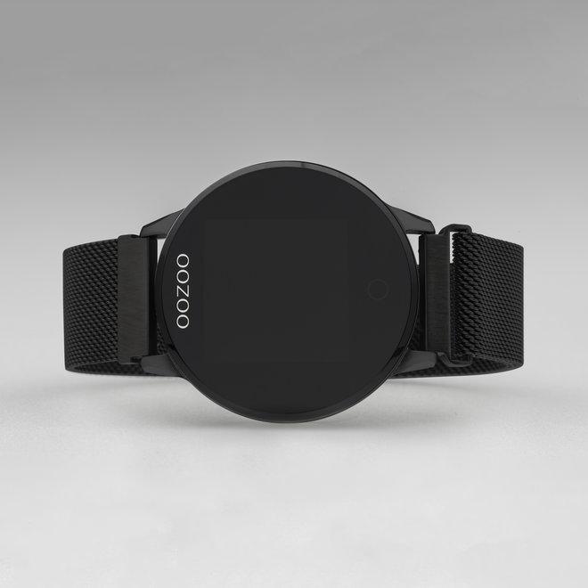 OOZOO Smartwatches - unisexe - bracelet en mesh noir avec noir