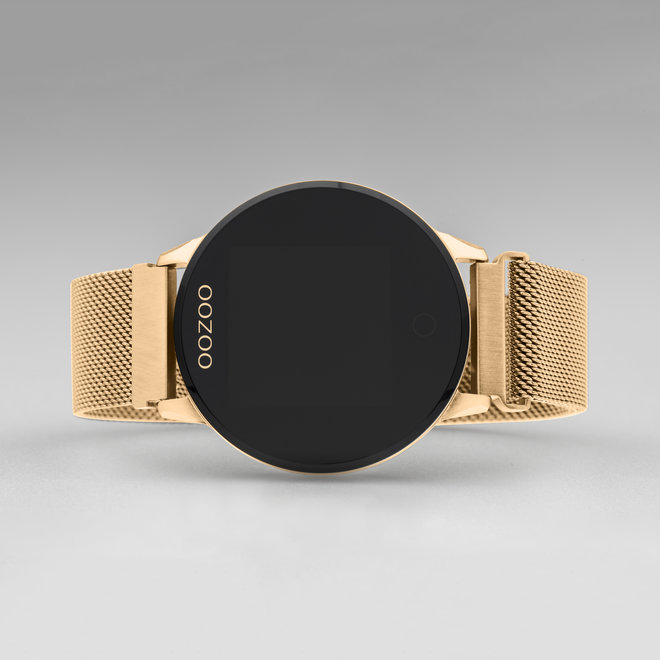 OOZOO Smartwatches - unisexe - bracelet en mesh or rose avec or rose